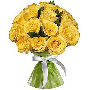 Букет из  жёлтых роз