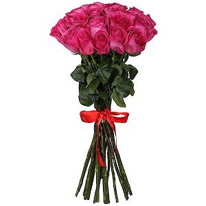 Букет из 21 розовой розы - премиум