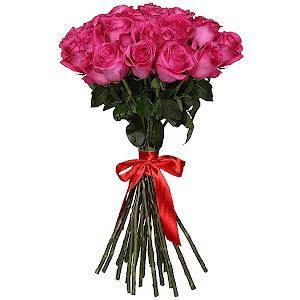 Букет из 35 розовых роз - премиум